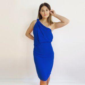 NWT Halston Braided Strap Dress